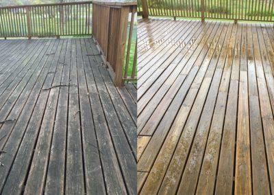 Wooden Deck Pressure Washing